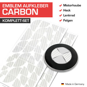 Carbon Silber Emblem Aufkleber Ecken für BMW Autos E31 E46 E60 E65 E90 45 Ecken