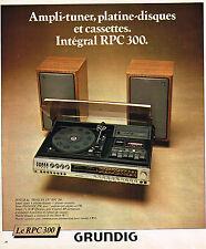 PUBLICITE ADVERTISING 124  1977  GRUNDIG  ampli-tuner  RPC 300
