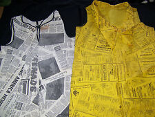 Iconic Vintage 1960's News Paper Dress - Authentic - Lot of 2 Dresses
