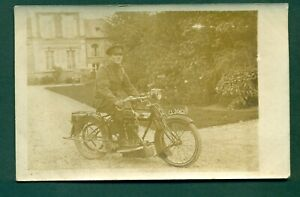 MOTOR CYCLE CL 2062 WITH RIDER,vintage postcard