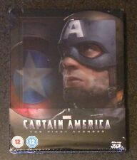 CAPTAIN AMERICA 3D Blu-Ray SteelBook Lenticular Zavvi UK First Avenger New Rare!