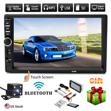 "7"" Double Car Radio Stereo MP5 MP3 Player 2 Din In Dash Bluetooth FM AUX USB USA"