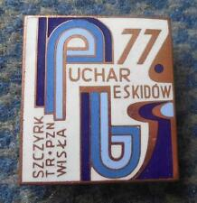 FIS BESKIDY CUP SKI JUMPING NORDIC COMBINED POLAND SZCZYRK WISLA 1977 BRONZE PIN