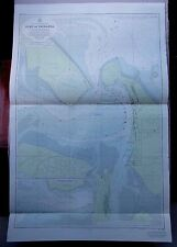 """1971 Nueva Zelanda Isla del Norte-Puerto de baja Touranga Mar Cuadro Mapa 28"""" X 43"""" B62"""