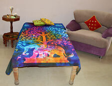 Tree Of Life Single Indian Bedspread Hippie Gypsy Bed sheet Table Cloth Wall Art