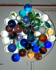 Vintage & Modern Shooter Glass Marbles Lot of 53 Different Colors All Bigger
