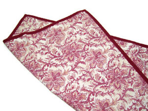 Pottery Barn Batika Floral Paisley Burgundy Red Print Sofa Toss Pillow Cover New
