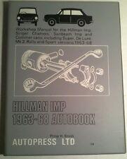 WORKSHOP MANUAL FOR THE HILLMAN IMP, MK2, SUPER..., 1963-68