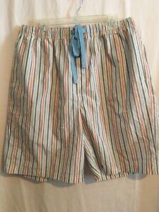 Cremieux Men Sleep Lounge Pajama Shorts Sz XLT 2XLT 2XB Multicolor Stripes NWT