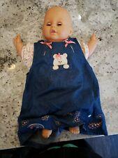 """Vintage Eegee Blue sleep eye 18"""" soft cloth body Baby Doll 19RG"""