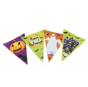 1 Pk/3 pk 12ft Halloween Bunting Party Decorations Kids Party Banner Garland UK