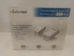 Action-Tec Powerline Network Adaptor Kit w/ 4 Ports Up to 500 MBPS