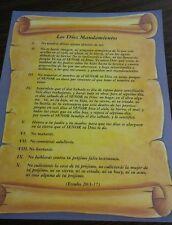 Los Diez Mandamientos de Dios  the  Ten Commandments OF GOD SPANISH set de 4