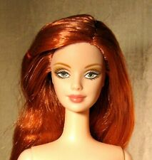 Nude Burberry Barbie long red hair for ooak or play