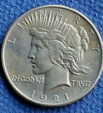 U.S. 1921 Peace Silver Dollar, Uncirculated? Stop!