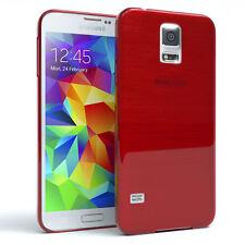 Funda protectora para Samsung Galaxy s5/Neo brushed cover móvil, funda rojo