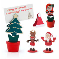 2 x Christmas Table Place Card Holder Santa Hat Tree Reindeer Decoration Xmas
