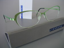 53-12-125 | NEW! LINDBERG STRIP Titanium Eyeglasses GREEN 'CAT-EYES', SZ.125/135