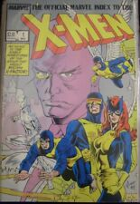 OFFICIAL MARVEL INDEX X-MEN 1-7 COMIC SET COMPLETE PLUNKET SIMONSON 1987 NM