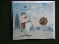 2020 SNOWMAN 50p Fifty Pence Coin Royal Mint Pack Brilliant Uncirculated Sealed