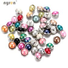 12mm Snap Button Simulated Pearl Snap Charms Mix Lots For 12mm Snap Jewelry