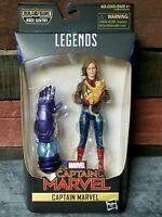 Marvel Legends CAPTAIN MARVEL Carol Danvers Figure w/ Goose Cat BAF Kree Sentry