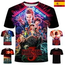 Camiseta de stranger things manga corta para hombre,mujer,niño,niña,transpirable