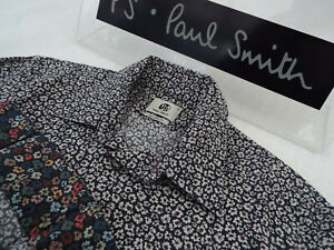 """PAUL SMITH Mens Shirt 🌍 Size S (CHEST 36"""") 🌎 RRP £95+📮 FLORAL LIBERTY PRINT"""