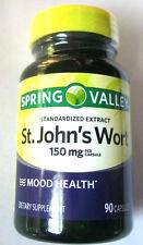 Spring Valley St Johns Wort 150Mg 0.3% Hypericin 90 Pills Capsules Mood Health