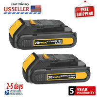 2X DCB201 For NEW DEWALT 20V 20 Volt Max Li-Ion Battery Pack Upgrade Over DCB207