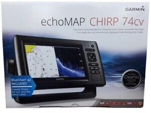 Garmin ECHOMAP CHIRP 74cv ClearVu US Bluechart Coastal + CV23M-TM transducer