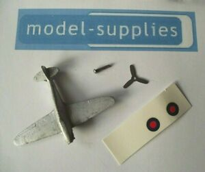 Hurricane Aeroplane Copy Dinky 62S with pin, Tin propeller & top roundals kit