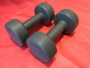 NEW Women's Mens Dumbbell Set Home Gym Fitness Exercise 2x 1.1kg Total 2.2kg