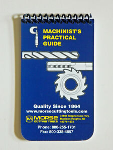 Machinist's Practical Guide Pocket Manual Handbook, Ref. Book Morse 20402, TB1