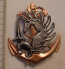 insigne militaire-pucelle TROUPE DE MARINE PARA façon bronze