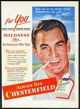 1951 Ben Hogan photo Chesterfield cigarettes vintage print ad