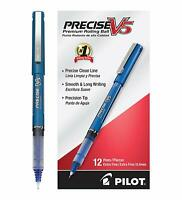 12 Pack - Pilot Precise V5 Stick Rolling Ball Pens, Precision Point Ink, .5mm