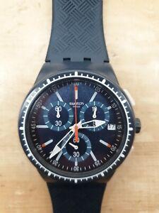 Swatch 40mm Blue Case Rubber Strap Men's Watch - (SR936SW)