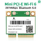 3000Mbps WiFi 6 Wireless Card Mini PCI-E Bluetooth 5.0 Dual Band for PC Laptops