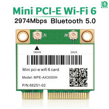 3000Mbps WiFi 6 Wireless Card Mini PCI-E Bluetooth 5.0 Dual Band for PC Laptop