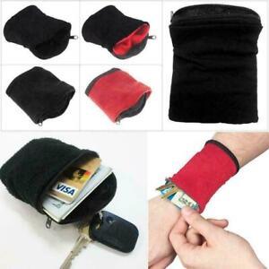 Wrist Wallet Pouch Band Zipper Running Travel Cycling Sport Bag X6D9 U0Q5