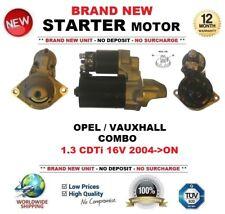 FOR OPEL VAUXHALL COMBO 1.3 CDTi 16V 2004->ON NEW STARTER MOTOR 1.1 kW 9 Teeth