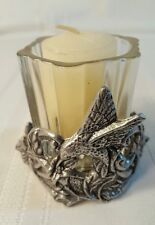 Metal Hummingbird holder w/ votive candle holder 1114