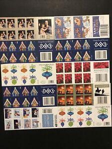 10 books USPS Forever Stamps Christmas Gingerbread Charlie Brown Santa Fv $110