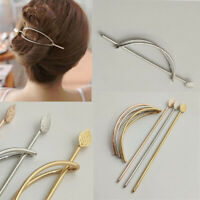 Ornament Simple Oval Hollowing Out Hair Accessories Hair Clip Metal Hairpin