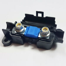 2 x 100 Amp Midi FUSIBILE Blu + MIDI/striscia di collegamento scatola portafusibili AUTO 100 A