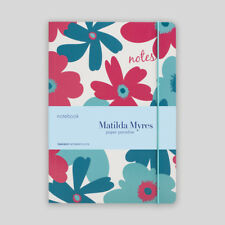 A5 Notebook from Matilda Myres - Ruled Notebook - Floral - Teal