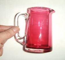 VINTAGE Mirtillo Rosso/Caraffa in vetro rubino