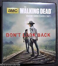 Walking Dead Season 4 Part 1 Complete Base Mini Master Set Binder Trading Cards