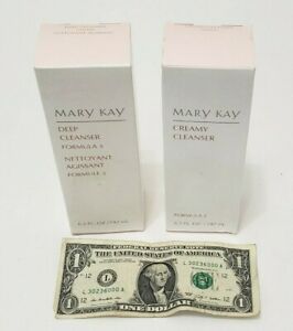 Mary Kay Creamy Cleanser & Deep Cleanser Formula 3  LOT - 6.5 fl oz Each EXPIRED